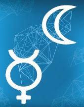 Луна, Меркурий соединение в натальной карте