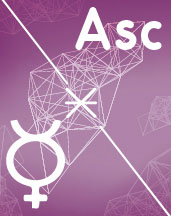Меркурий - Асцендент (Асц) секстиль в синастрии