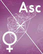 Венера - Асцендент (Асц) секстиль аспект в синастрии