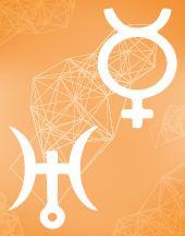 Меркурий - Уран соединение в транзитной карте (транзиты)