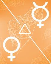 Меркурий - Венера трин в транзитной карте (транзиты)