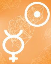 Солнце - Меркурий соединение в транзитной карте (транзиты)