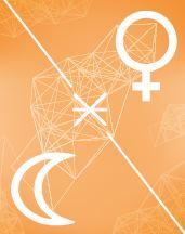 Венера - Луна секстиль в транзитной карте (транзиты)