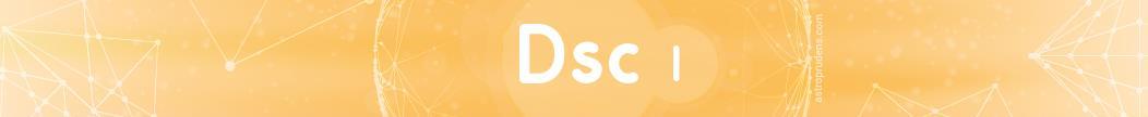 Десцендент (куспид 7 дома) соляра в 1 доме радикса