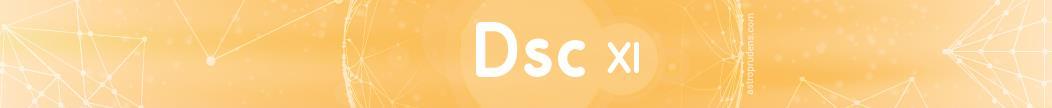 Десцендент (куспид 7 дома) соляра в 11 доме радикса