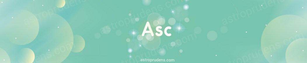 Планеты в соединении с Асцендентом, ASC в прогрессиях