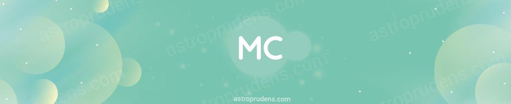 Планеты в соединении с Серединой неба (MC, Месцендентом) в прогрессиях