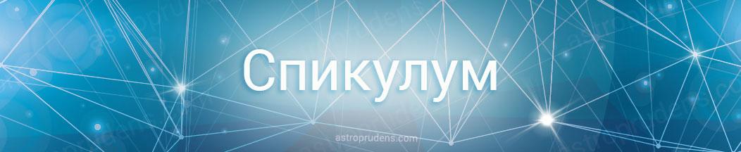 Спикулум в астрологии, натальной карте, гороскопе рождения